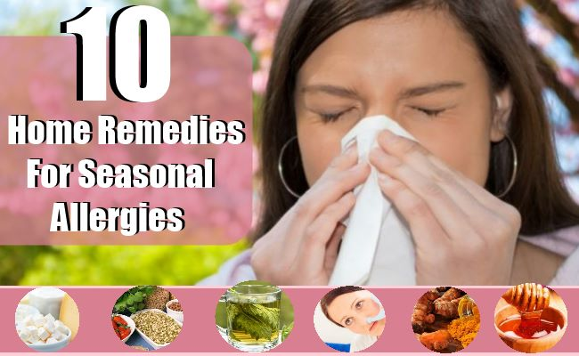 10 Simple Home Remedies to Stop Seasonal Allergy