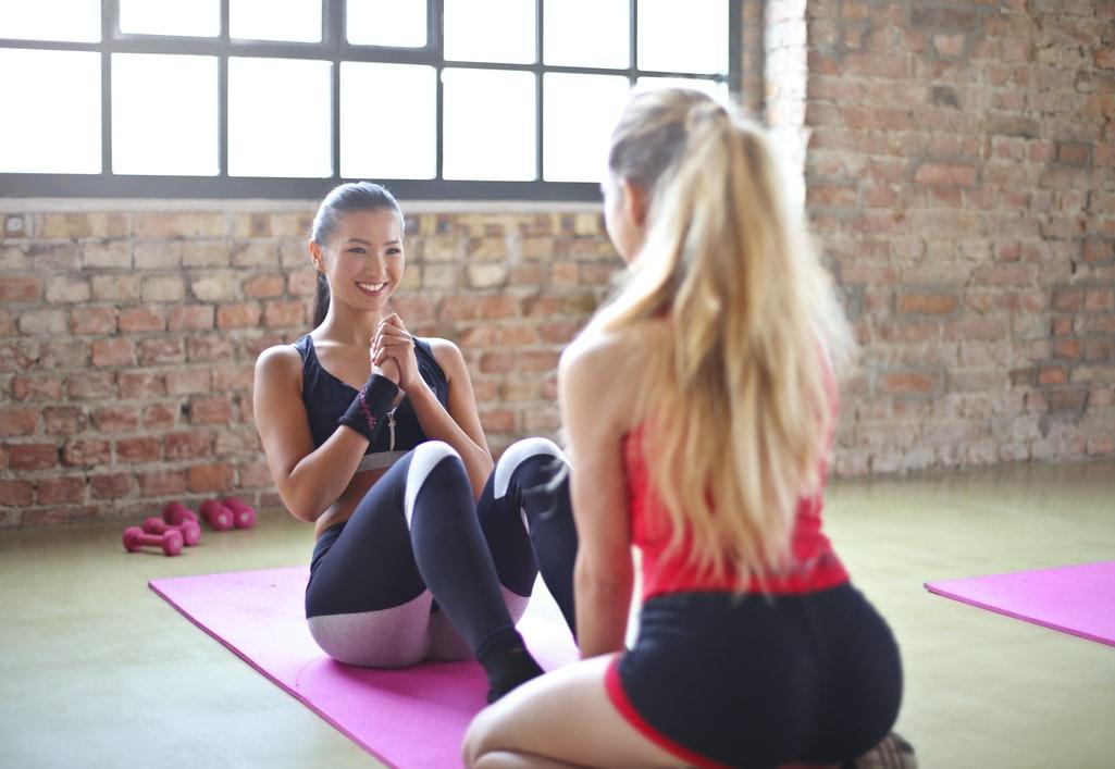 woman with a personal trainer